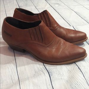Durango Leather Southwestern Ankle Bootie Mules